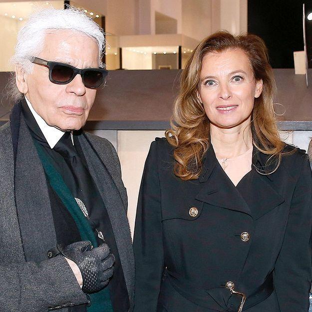 Karl Lagerfeld soutient Valérie Trierweiler