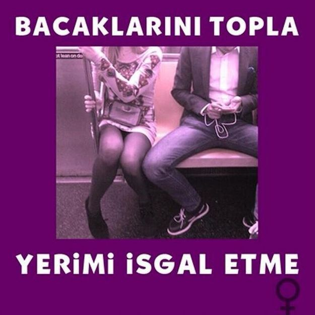 Les féministes turques critiquent les hommes dans le métro