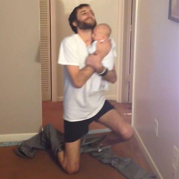 Prêt-à-liker : l'incroyable exploit d'un père avec son bébé