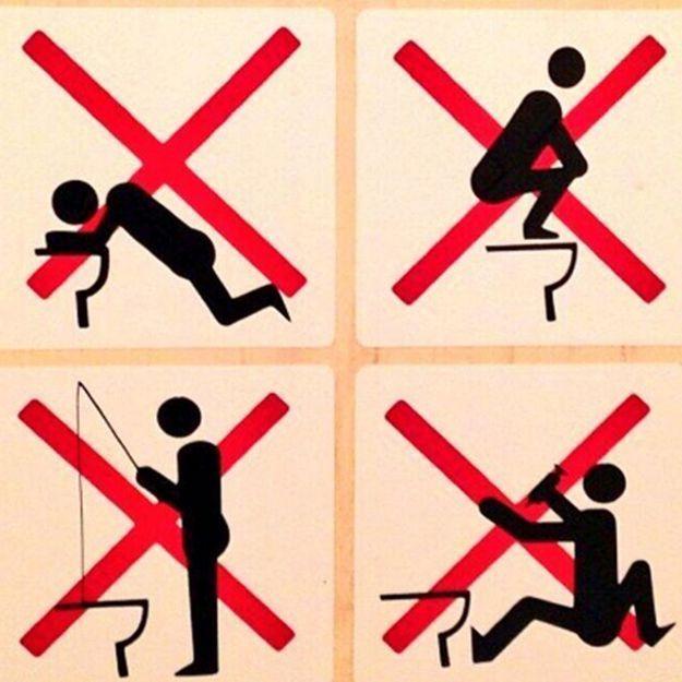 Sotchi:d'étranges consignes dans les toilettes amusent le web