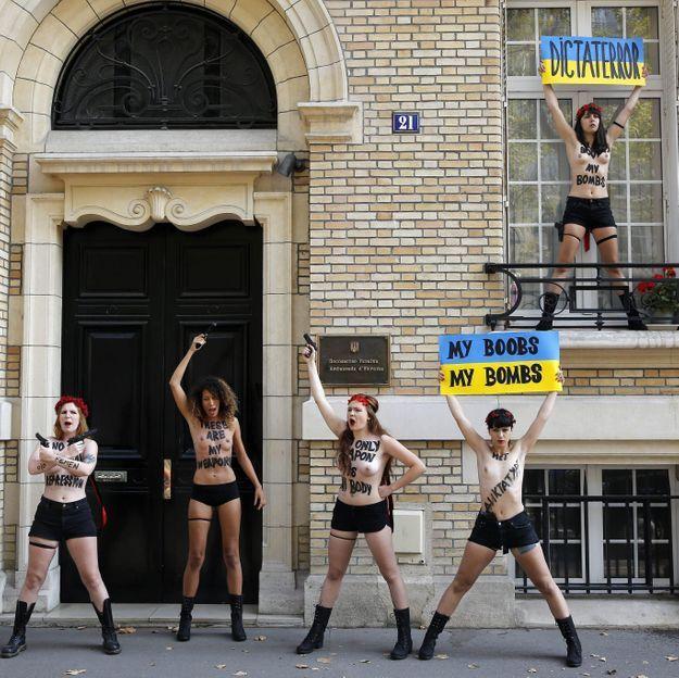 Trois activistes des Femen ont fui l'Ukraine