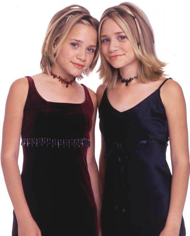 Ashley et Mary-Kate Olsen avant