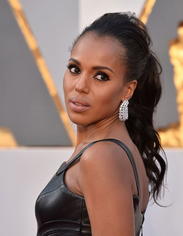 La queue-de-cheval coquée de Kerry Washington