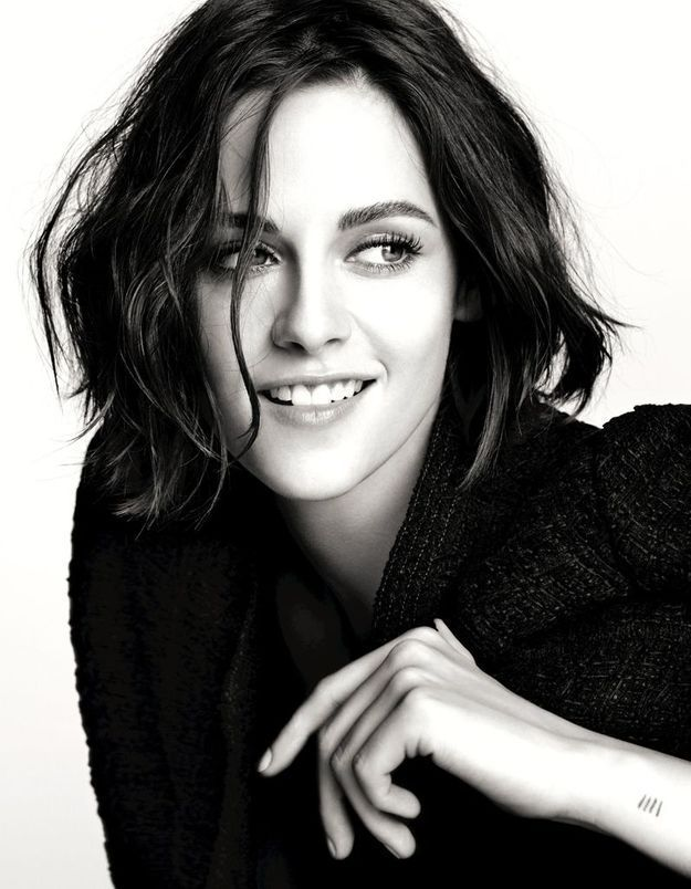 Kristen Stewart pour le maquillage des yeux Chanel, joueuse