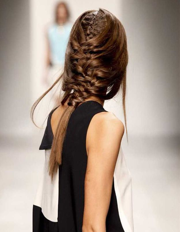 Coiffure cheveux fin en tresse