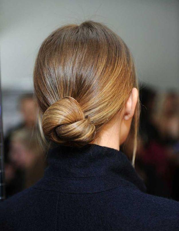 Coiffure cheveux fins chignon