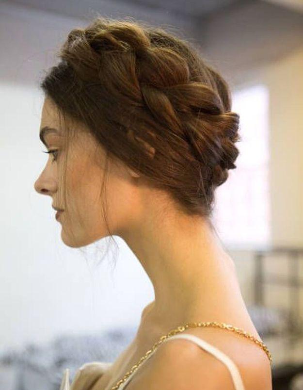 Chignon de mariée avec tresses