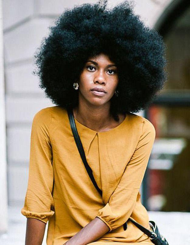 Coiffure afro américaine femme hiver 2015