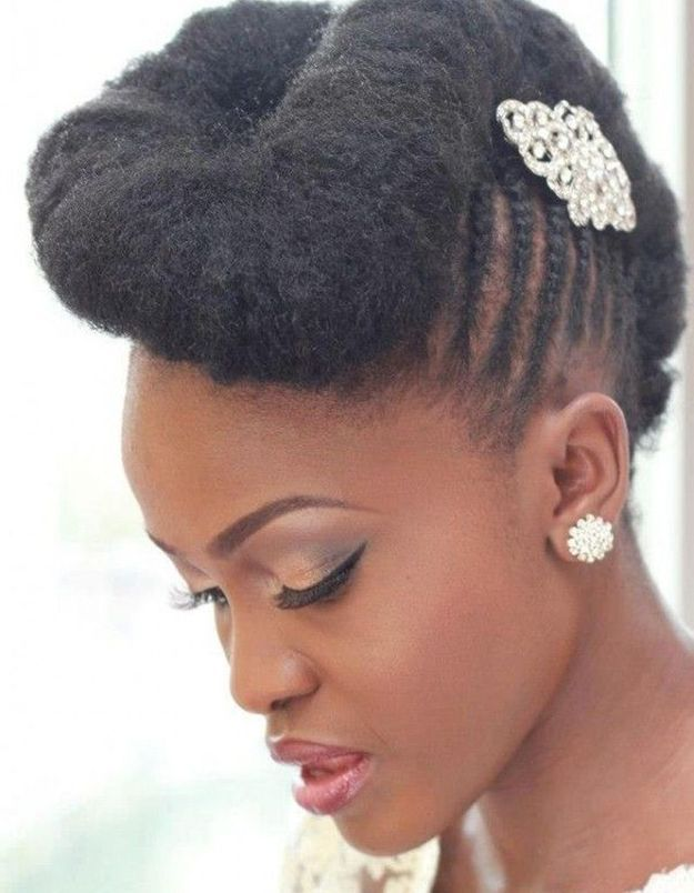 Coiffure afro mariage hiver 2015