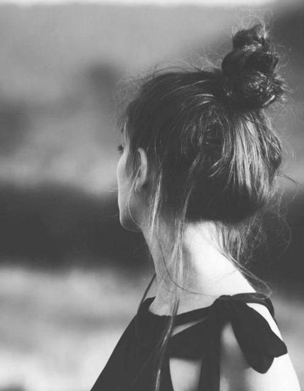 Coiffure cheveux mi longs bun automne-hiver 2016