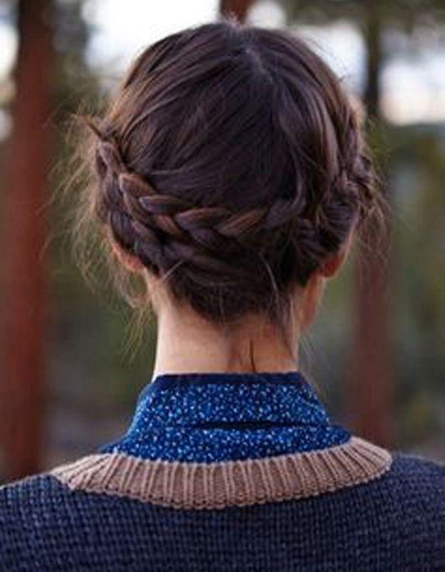 Coiffure cheveux mi-longs rapide et facile automne-hiver 2016