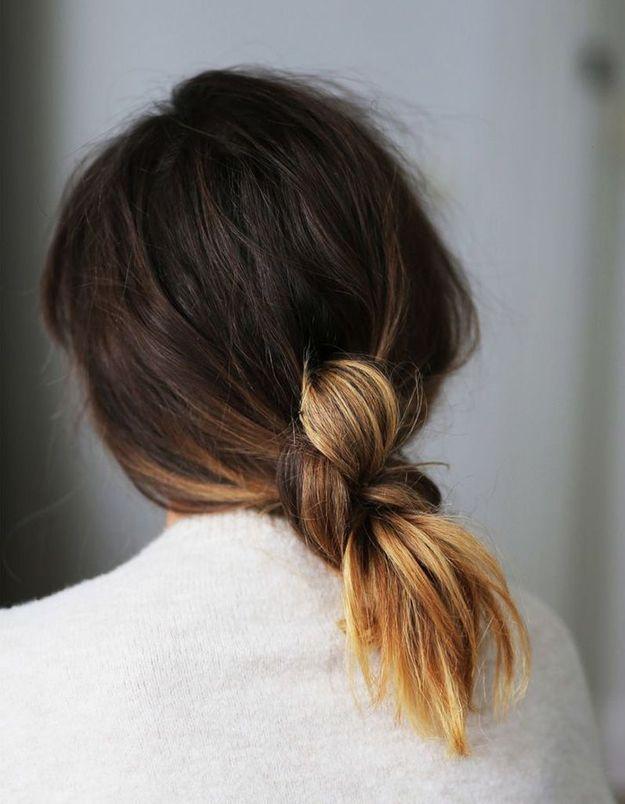 Coiffure pour cheveux mi-longs facile automne-hiver 2016