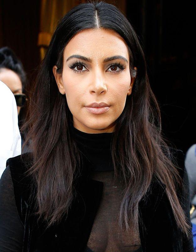 Avant : Kim Kardashian brune