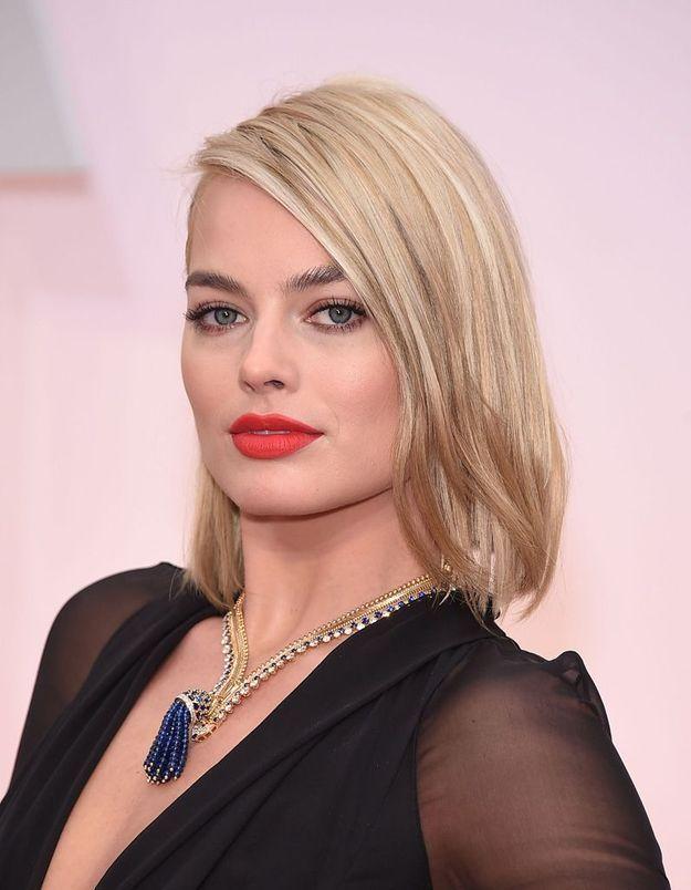 Avant : Margot Robbie blonde