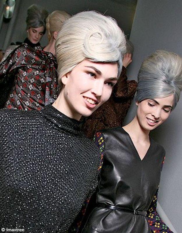 Beaute cheveux coiffure tendance chignon haut Gaultier
