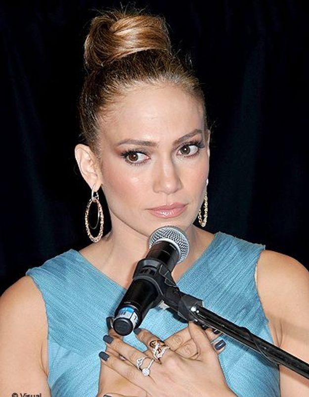 Beaute cheveux coiffure tendance chignon haut Jennifer Lopez