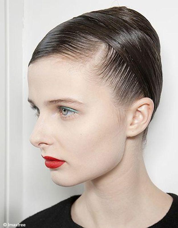 Beaute cheveux coiffure tendance chignon haut Jil Sander 2