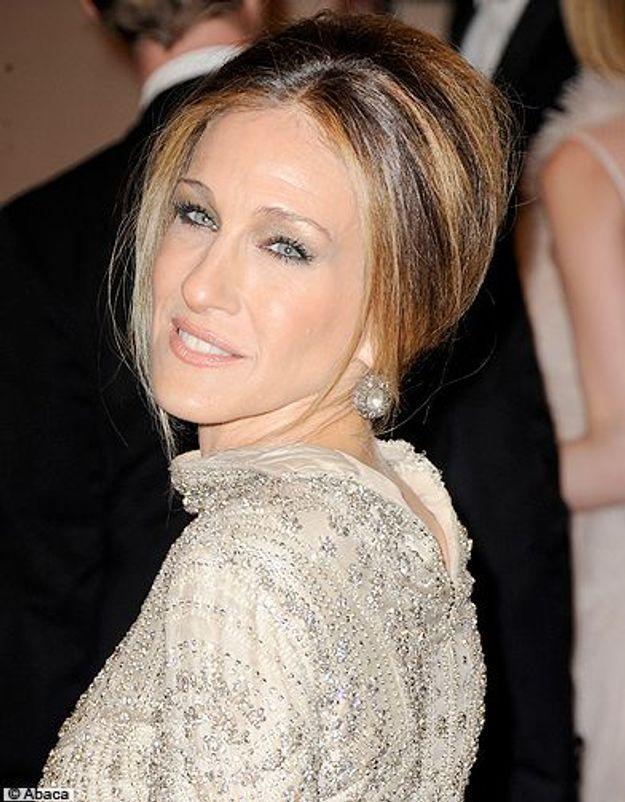 Beaute cheveux coiffure tendance chignon haut Sarah Jessica Parker