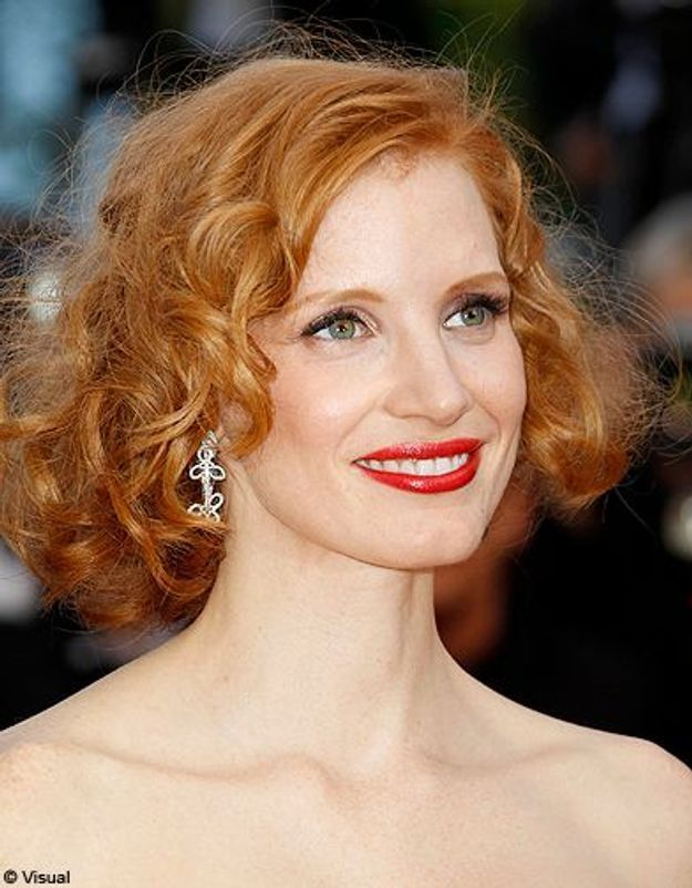 Beaute tendance cheveux coiffure coupe carre people Jessica Chastain