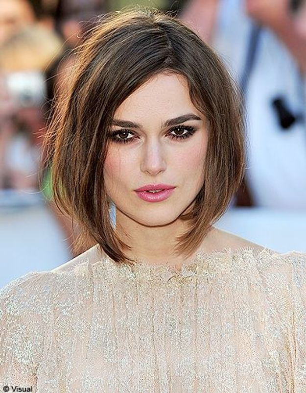 Beaute tendance cheveux coiffure coupe carre people Keira Knightley
