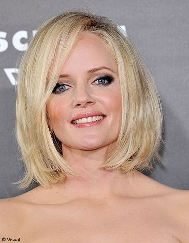 Beaute tendance cheveux coiffure coupe carre people Marley Shelton