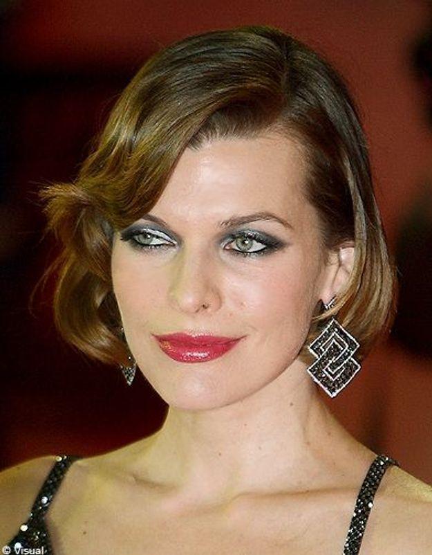 Beaute tendance cheveux coiffure coupe carre people Milla Jovovich
