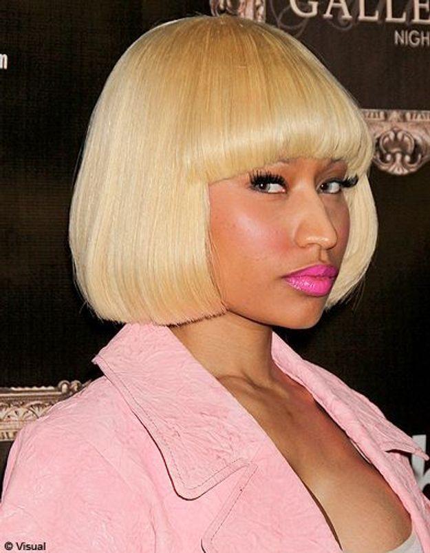 Beaute tendance cheveux coiffure coupe carre people Nicki Minaj