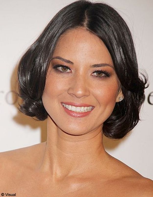 Beaute tendance cheveux coiffure coupe carre people Olivia Munn