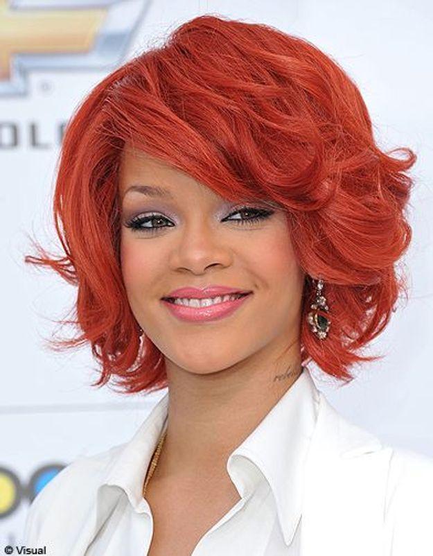 Beaute tendance cheveux coiffure coupe carre people Rihanna