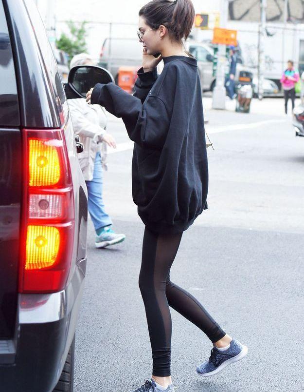 Kendall et sa queue de cheval haute.