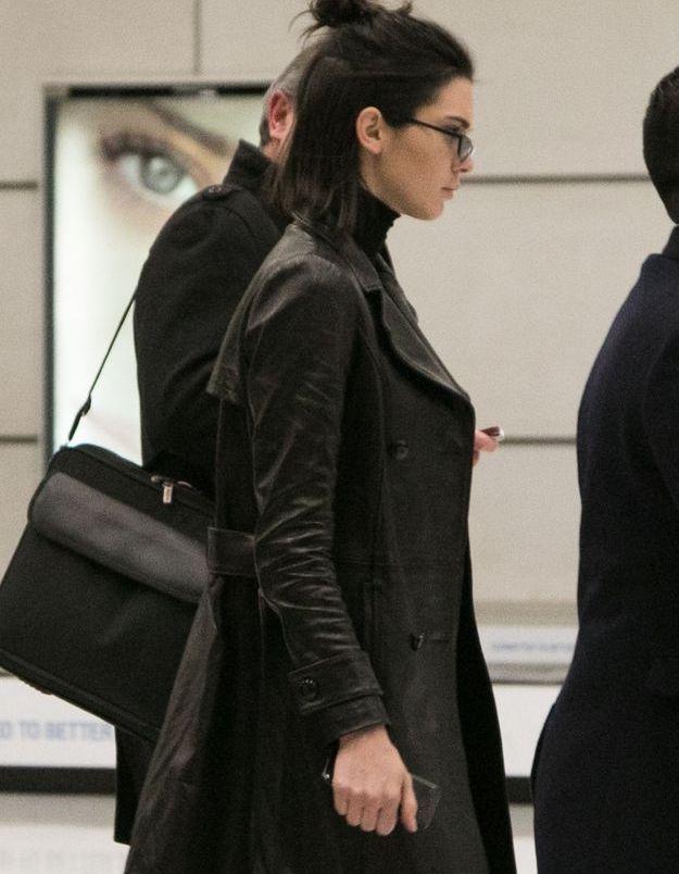 Kendall et son mini demi chignon.