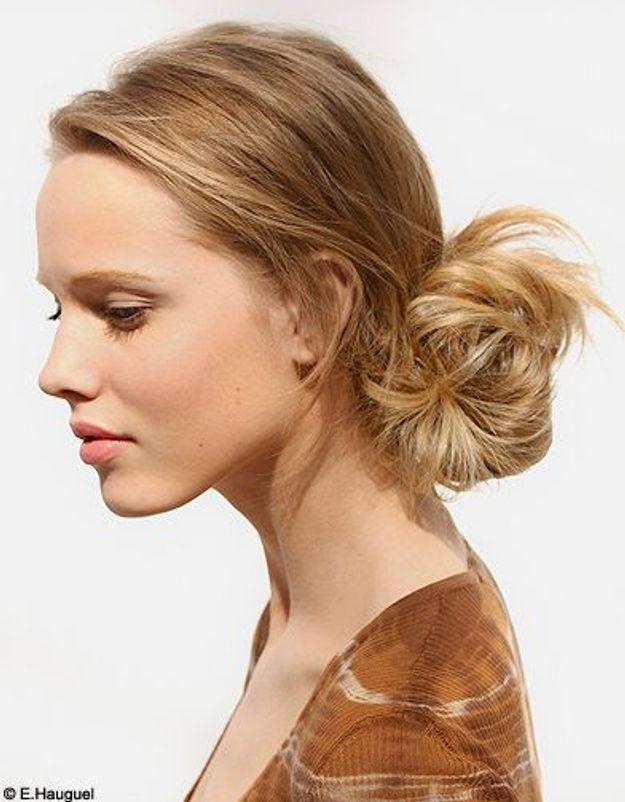 Beaute cheveux coiffure conseil tendance chignon easy chic