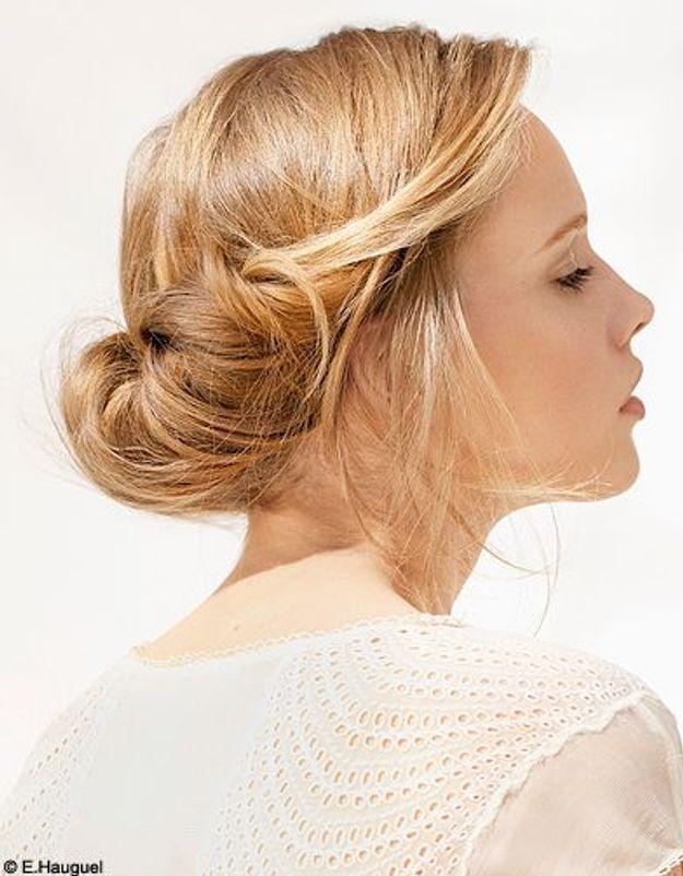 Beaute cheveux coiffure conseil tendance chignon romantique