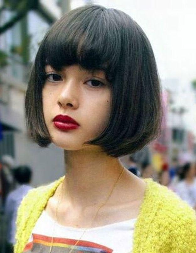 coiffure visage rond frange 40 coiffures canon pour les visages ronds elle. Black Bedroom Furniture Sets. Home Design Ideas
