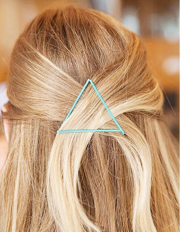 Pinces plates en triangle turquoise