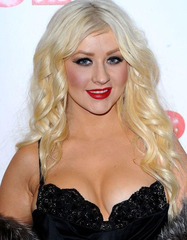 Christina Aguilera en blonde
