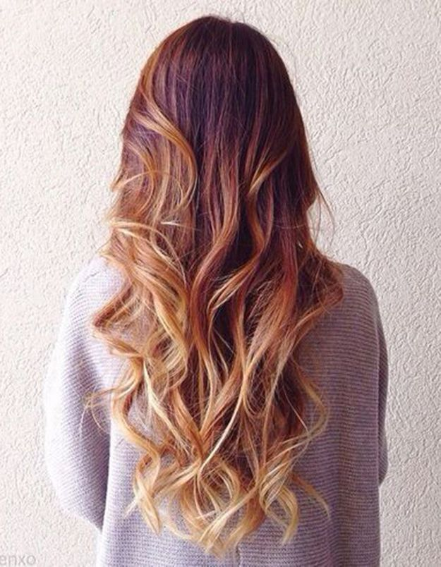 balayage cuivr et pointes blond miel balayage cuivr le reflet chaud adopter cette saison. Black Bedroom Furniture Sets. Home Design Ideas