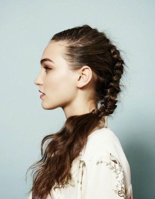 Cheveux bruns longs