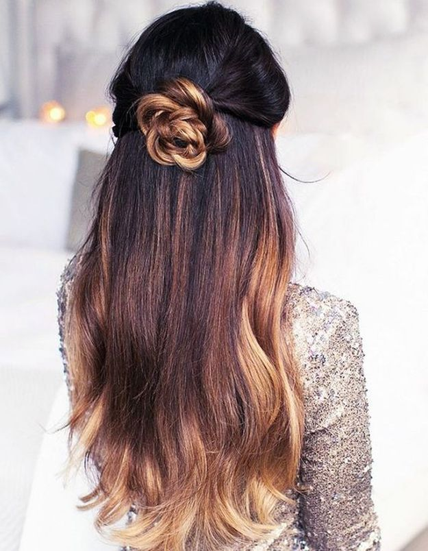 Ombré hair cheveux longs