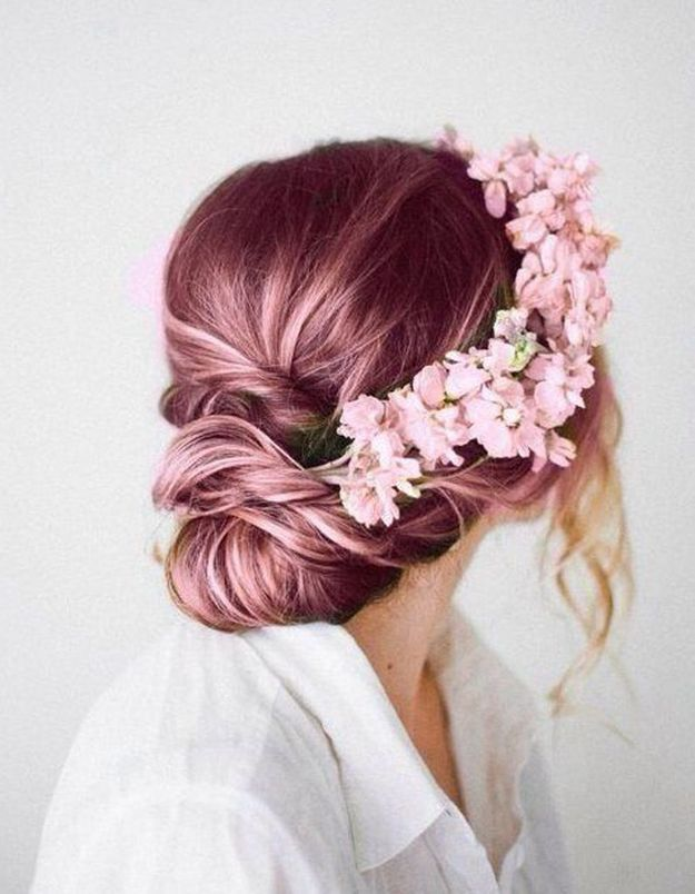 Ombré hair rose