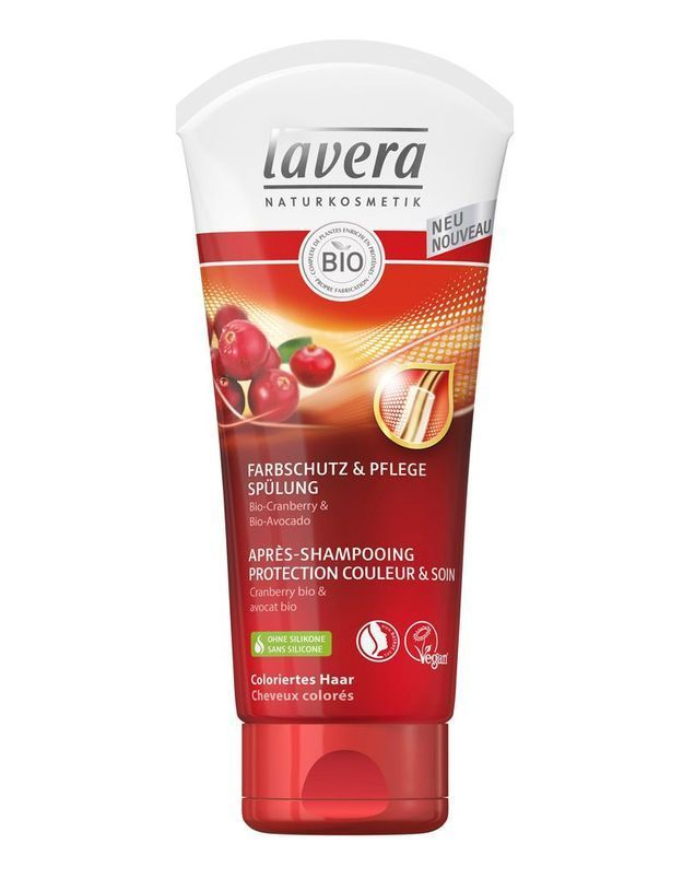Après- Shampooing Protection Couleur & Soin, Lavera, 200 ml, 5,99€.