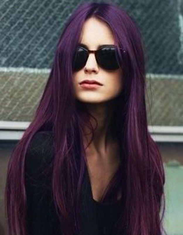 Cheveux longs couleur