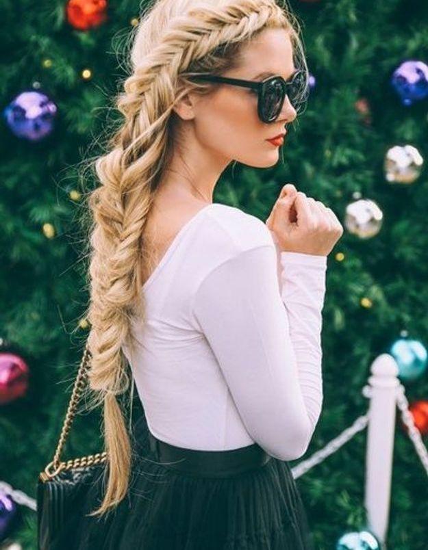 Coiffure cheveux longs tressés automne-hiver 2018