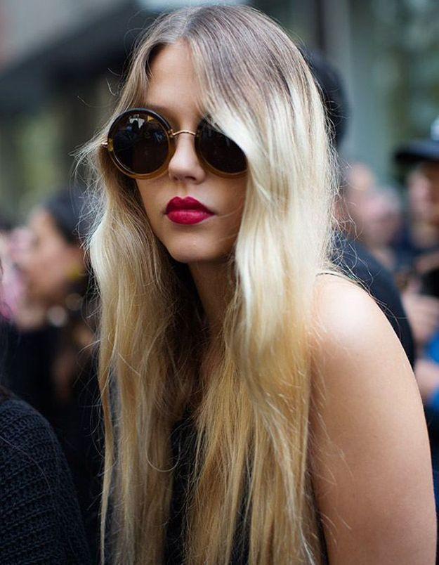 Modèle de coiffure cheveux longs
