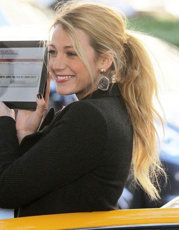 La queue-de-cheval de Blake Lively dans le rôle de Serena dans la série « Gossip Girl », en 2011