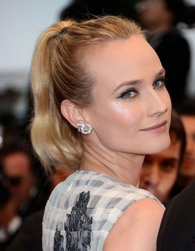 La queue-de-cheval de Diane Kruger à Cannes, en 2012