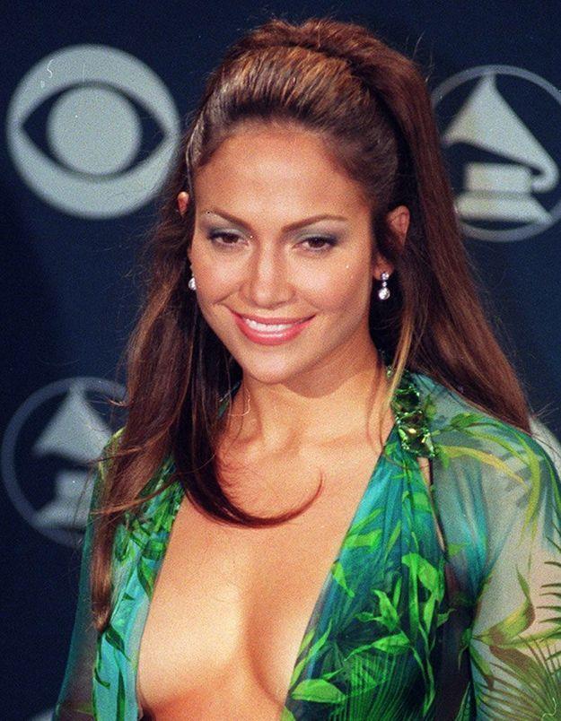 La queue-de-cheval de Jennifer Lopez aux Grammy Awards, en 2000