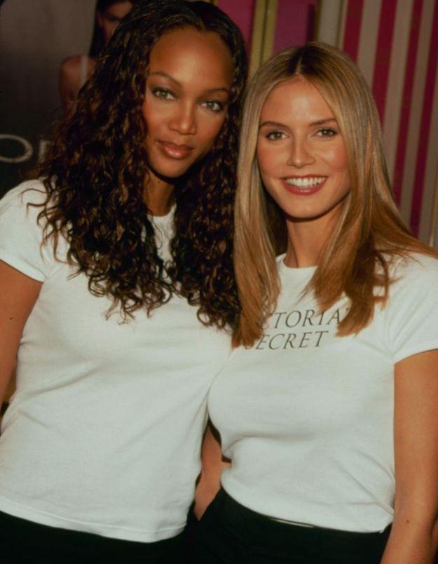 Tyra Banks et Heidi Klum avant