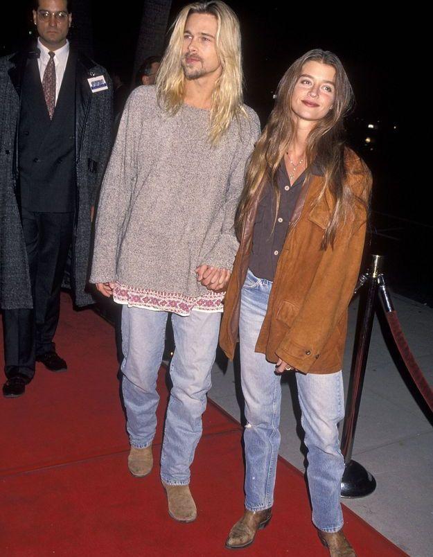Brad Pitt et Jitka Pohlodek en 1994