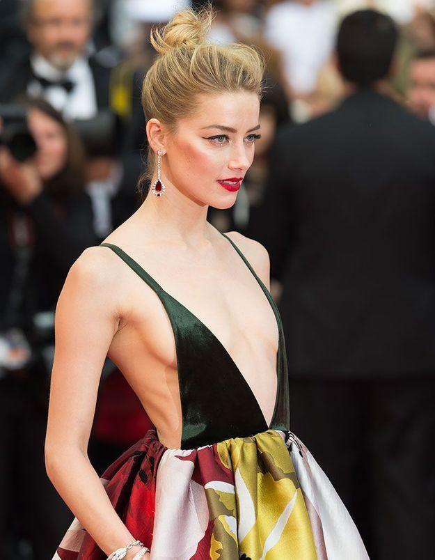 Le chignon décoiffé d'Amber Heard à Cannes
